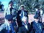 L-R (Rear) Mal Fergusson, Dave Ellis.  L-R (Front) Tom Spring, Mandy Spring and Gordon Roberson at the Memorial Service