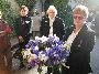 Joy Montefiore, Bev Laycock and Colleen Hare with the Signal veterans wreath