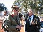 L-R  Brig Michael Milford (Head of Corp, Royal Australian Corps of Signals) talking to Norm Munro (OC)