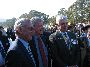 L-R Ralph Bilsby, Ian Crothwaite and the Governor General, His Excellency Major General Michael Jeffery