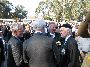 Alan Ball (Right shoulder GG) talking to the Governor General, His Excellency Major General Michael Jeffery about trains
