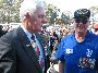 "Rowan ""Stretch"" Gamble talking to the Governor General, His Excellency Major General Michael Jeffery"